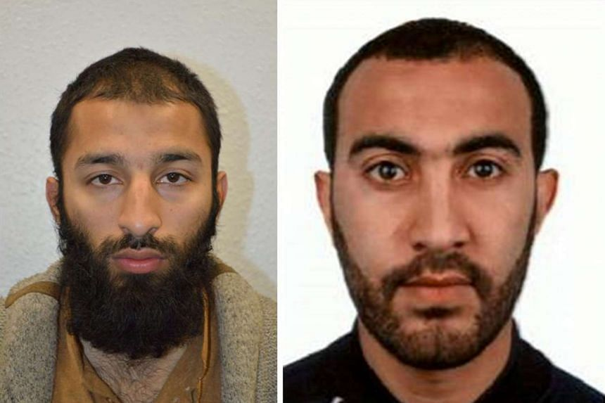 Khuram Shazad Butt (left) and Rachid Redouane (right) were two of the men shot dead by police following the attack on London Bridge and Borough Market on June 3, 2017.