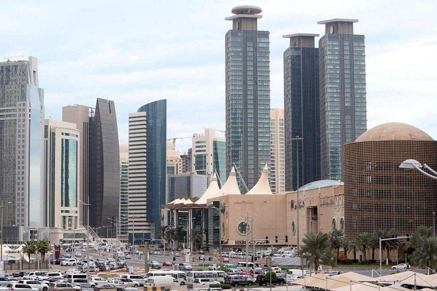 Skyscrapers in the Qatari capital Doha in 2015.