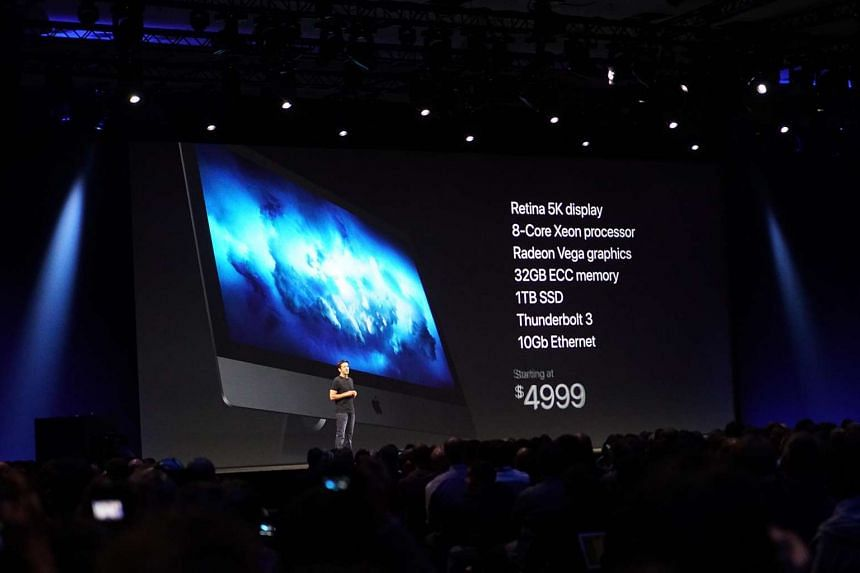 The new iMac Pro being announced at the WWDC 2017 keynote.