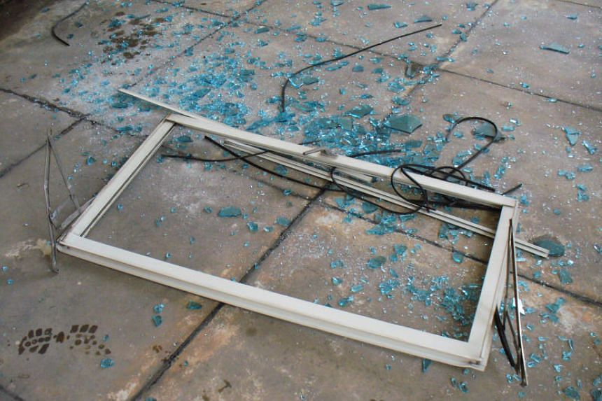 A fallen casement window.