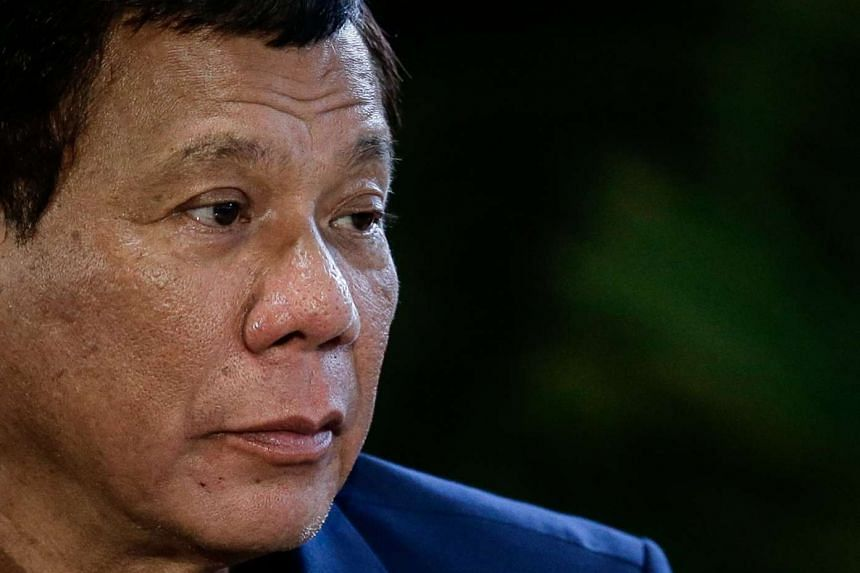 """Duterte (above) described the Marawi City rampage as a """"rebellion"""", requiring a forceful response."""