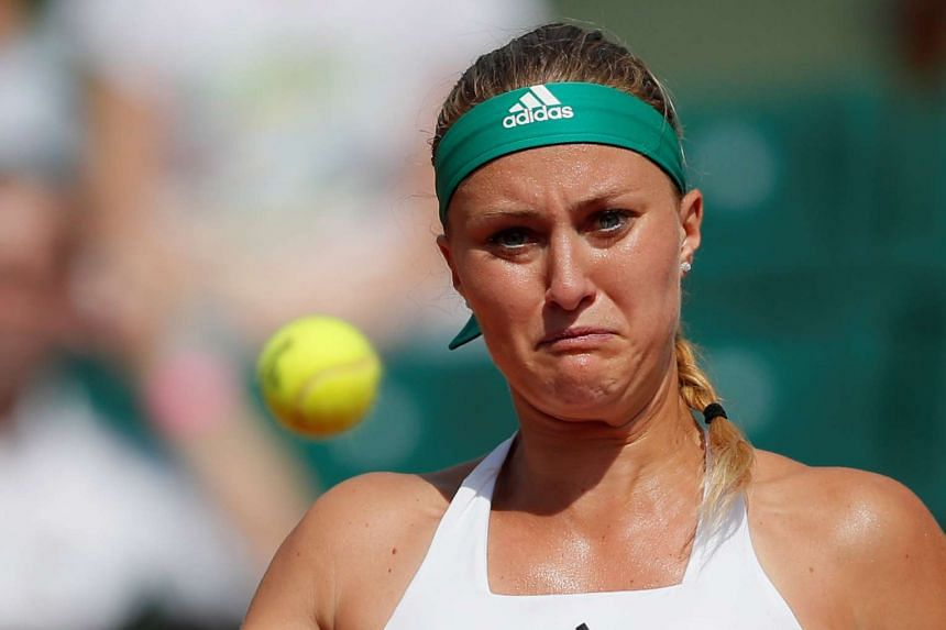 Mladenovic (above) lost 6-4 6-4 to Timea Bacsinszky.