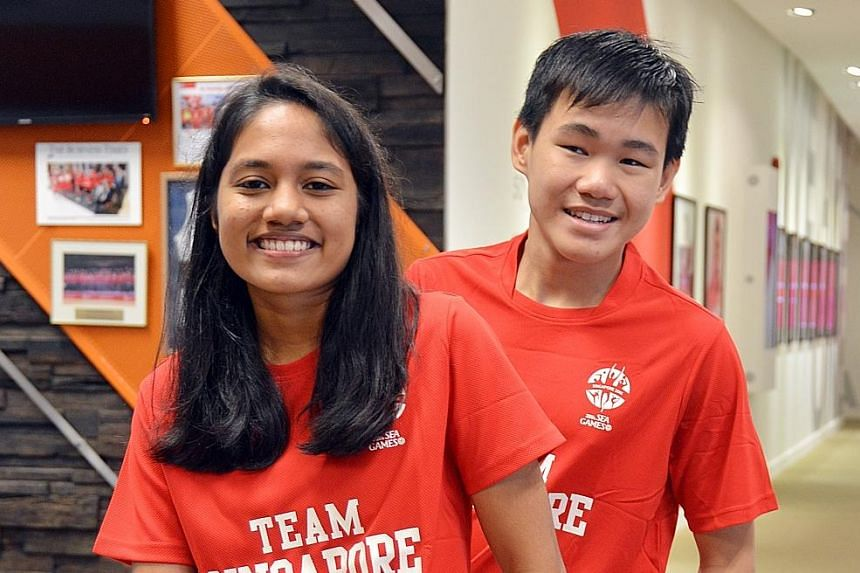 Gan Eng Seng student Hanisa Karim, a budding athlete, and Catholic High's Wong Zhi Wei, who is partially blind, are among eight young people selected to go on a fully sponsored trip to the World Swimming Championships in Hungary. For Hanisa, who come
