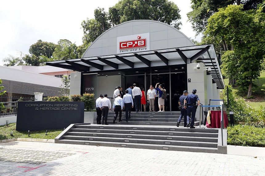 The CPIB's Corruption Reporting and Heritage Centre in Whitley Road is one location where people can complain about corruption in person. Prime Minister Lee Hsien Loong said many successful investigations arise from tip-offs, and urged people who kno