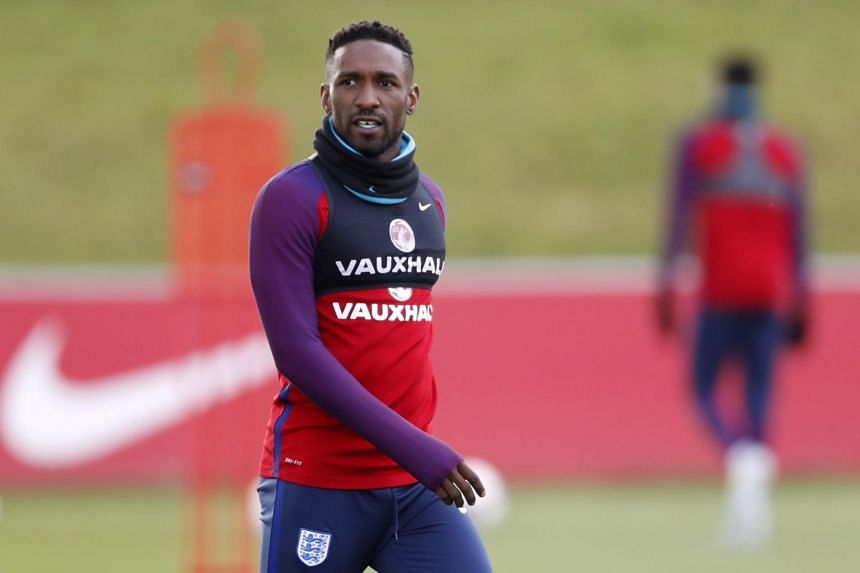 Jermaine Defoe training with the England national team at St George's Park, Burton Upon Trent on June 6, 2017.