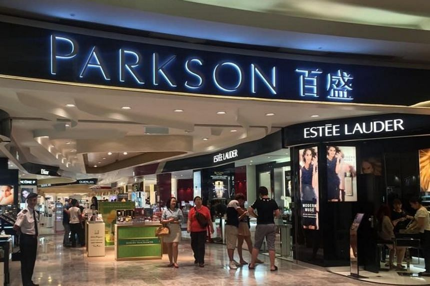 The storefront of department store Parkson KLCC in Kuala Lumpur.
