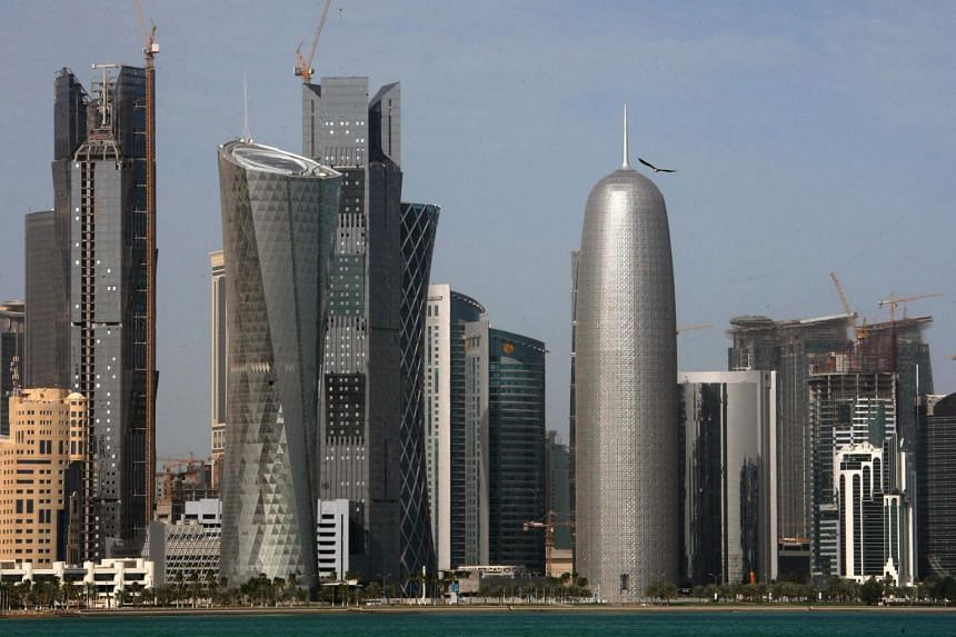 A general view of the skyline of Doha, Qatar.