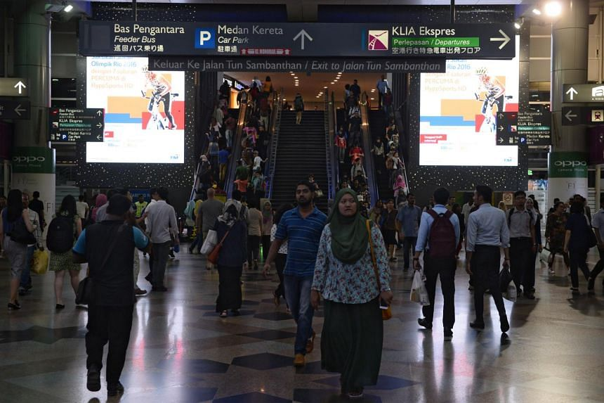 Commuters at KL Sentral railway station in Kuala Lumpur, Malaysia, one of the terminals for the high-speed rail (HSR).