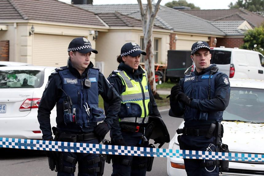 Police search the home of Yacqub Khayre at Roxburgh Park, Melbourne.