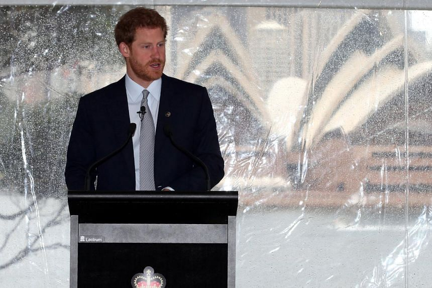 Prince Harry speaking at a function at Admiralty House in Sydney, on June 7, 2017.