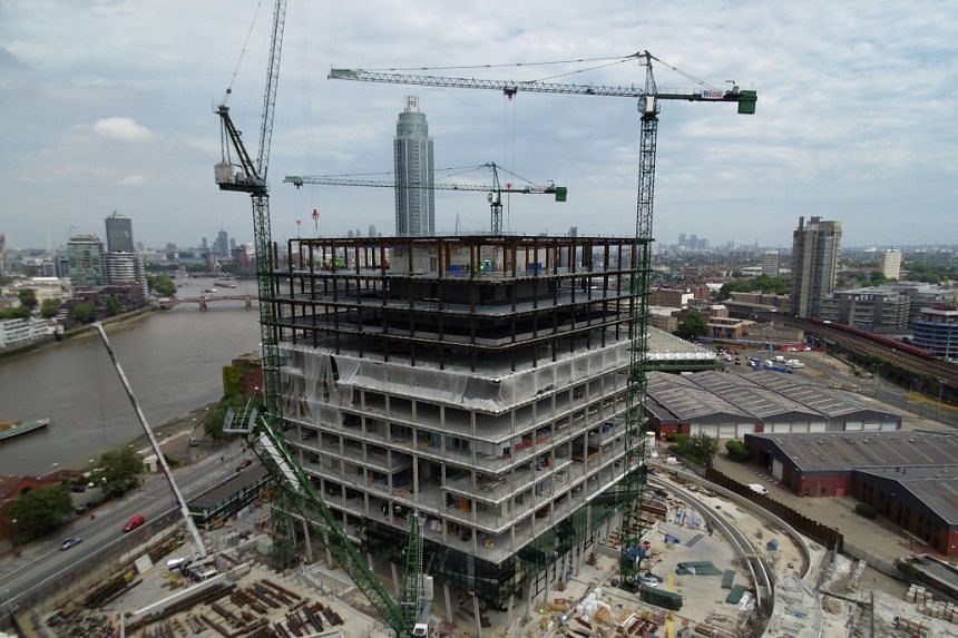 The new US embassy under construction in a photo made available in May 2017.