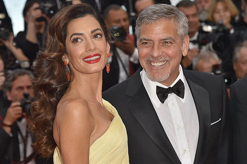 George Clooney and his wife, Amal, at the Cannes Film Festival in France in May last year.