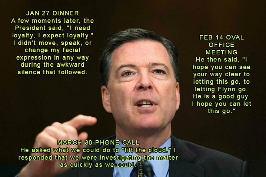Former FBI Director James Comey testifies before the Senate Judiciary Committee on Capitol Hill, on May 3, 2017.