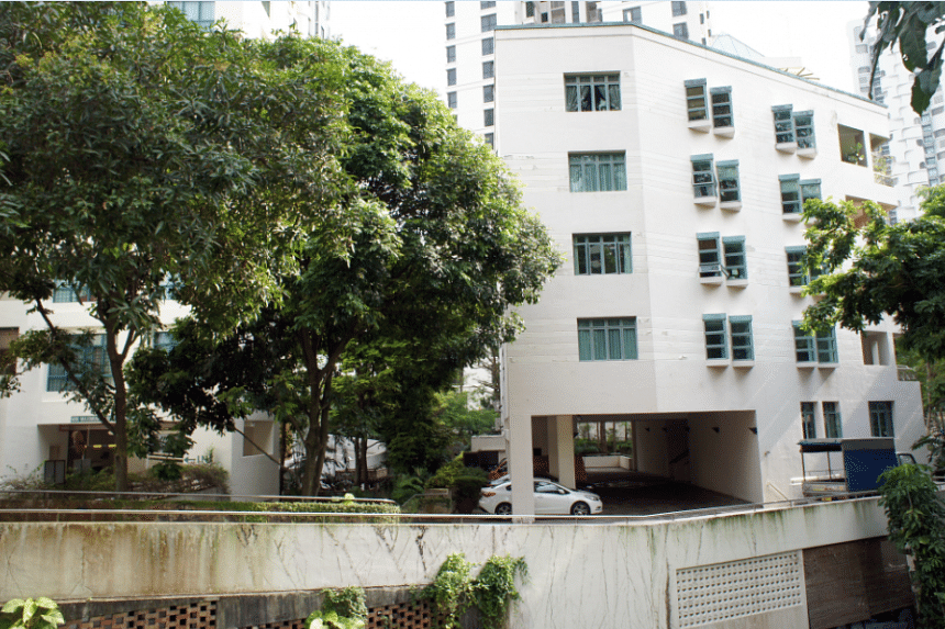 1 Draycott Park near Orchard Road now houses eight apartments.