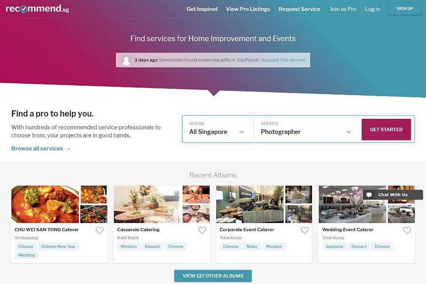 SPH Interactive (SPHI) and start-up RecomN Technologies have launched Recommend.sg, a portal for people to find reliable services in Singapore.