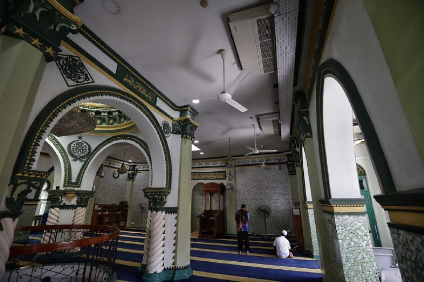 Interior of Masjid Abdul Gafoor, a recipient of the National Monument Fund, on June 8, 2017.