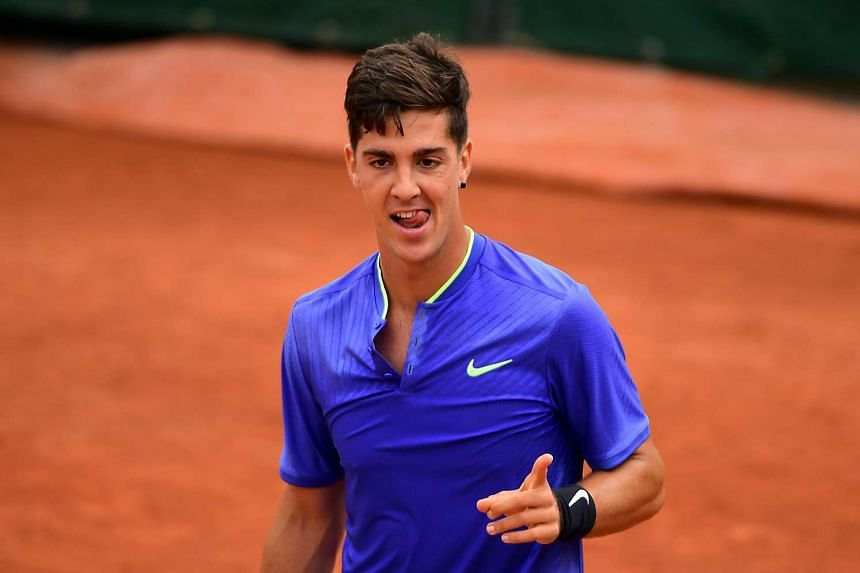 Thanasi Kokkinakis at the French Open tennis tournament at Roland Garros in Paris, France, on  May 30, 2017.