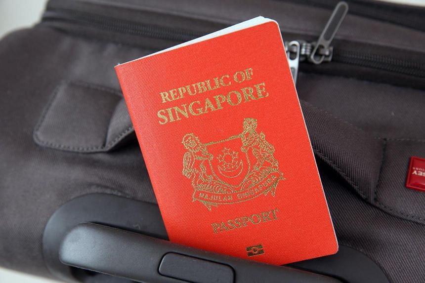 File photo of a Singapore passport.