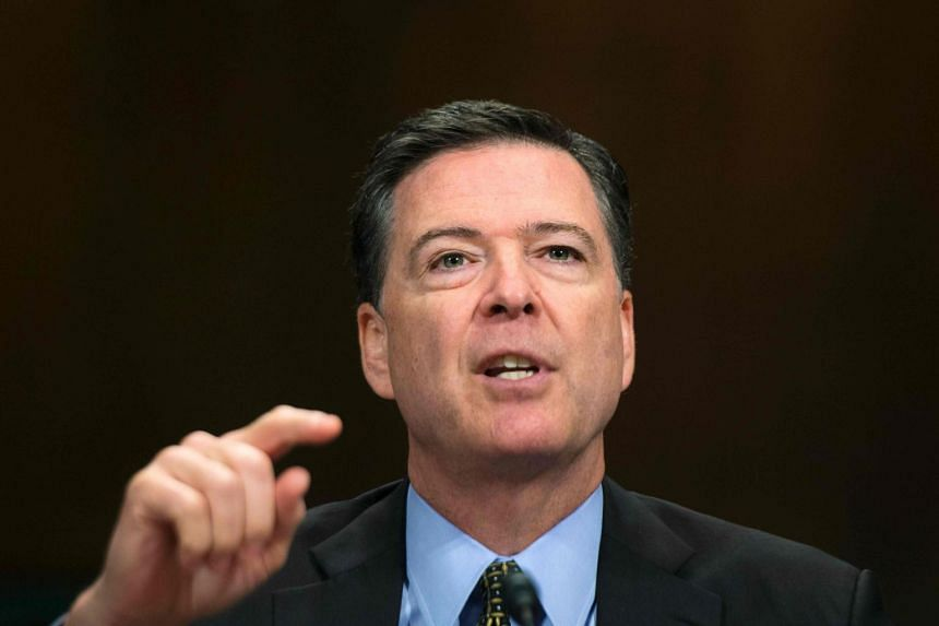 James Comey testifies before the Senate Judiciary Committee on Capitol Hill.
