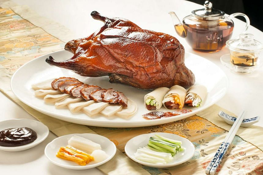 Beijing duck (above) from Min Jiang at One-North.