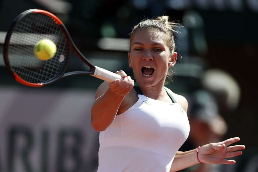 Simona Halep of Romania at the French Open tennis tournament at Roland Garros in Paris, France, on June 5, 2017.