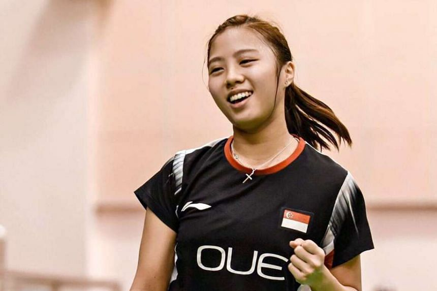 Singapore badminton player Yeo Jia Min at the Vietnam Open Grand Prix in July 2016.