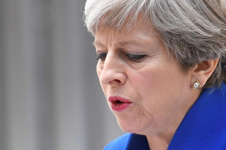 Theresa May makes a statement in Downing Street, London, June 9, 2017.