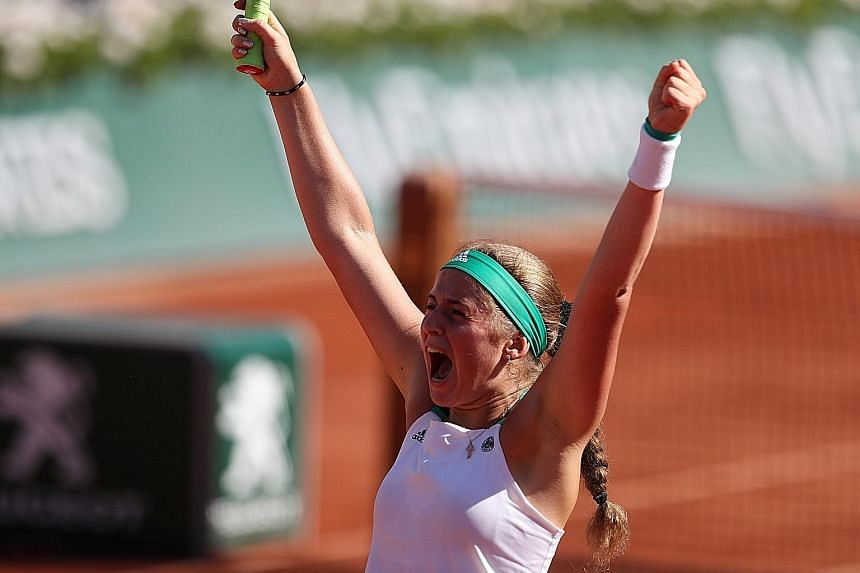 It was both their birthdays yesterday, but for Jelena Ostapenko and Timea Bacsinszky, only one received a gift - a ticket to the French Open final - while the other departed for home empty-handed. Latvian Ostapenko, 20, was the luckier birthday girl