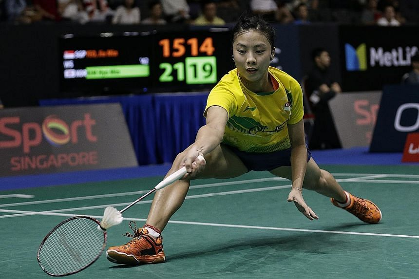 """Singapore Badminton Association chief coach Chua Yong Joo says Yeo Jia Min (left) """"has a lot of desire and determination to do well and of course, puts in a lot of hard work""""."""