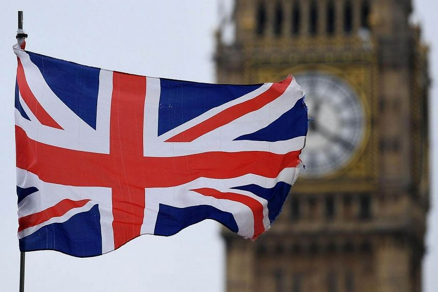 A Union flag flies near the Elizabeth Tower, commonly referred to as Big Ben.