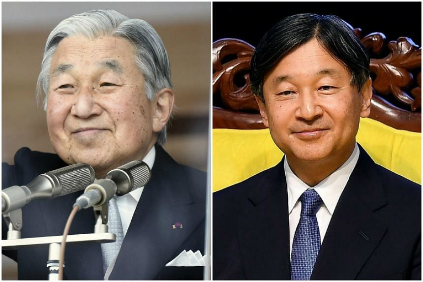 Japan's revered Emperor Akihito (left) is to step down in favour of his elder son, Crown Prince Naruhito, after the passing of the abdication Bill.