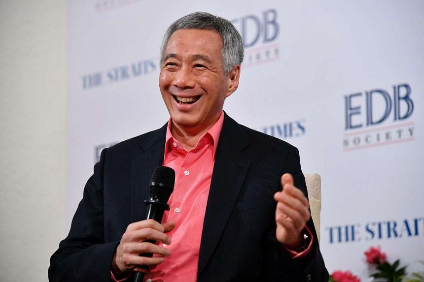 Prime Minister Lee Hsien Loong speaks during the seventh and final Pioneering The Future forum on Jan 20, 2017.