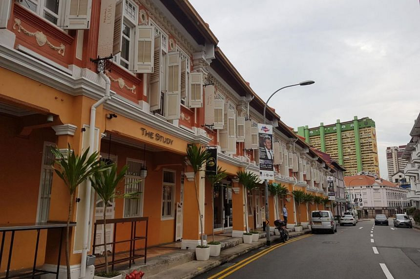 Naumi Liora along Keong Saik Road is housed within 10 adjoining freehold shophouses.
