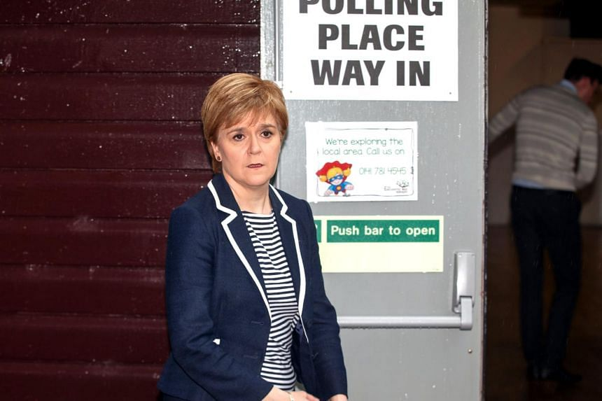 Scottish National Party leader Nicola Sturgeon said  she would think about her demands for a second Scottish independence referendum.