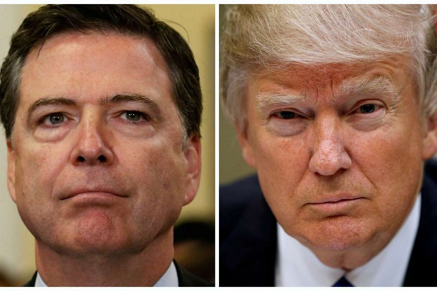 FBI Director James Comey (left) on Capitol Hill in Washington, US on July 14, 2016 and US President Donald Trump at the White House in Washington, US, March 1, 2017.