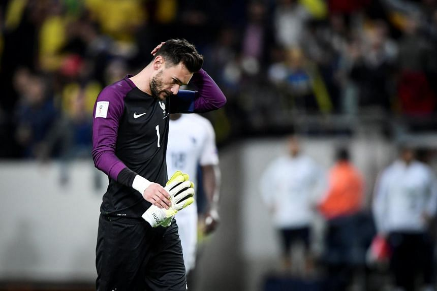 Goalkeeper Hugo Lloris' mistake proved costly as Sweden managed a 2-1 World Cup qualifier victory over France.