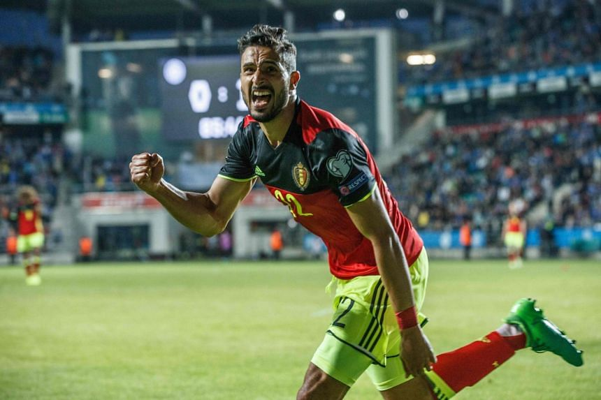 West Bromwich Albion player Nacer Chadli scored against a resilient Estonia on June 9, to give Belgium a four-point lead in their qualifying group.