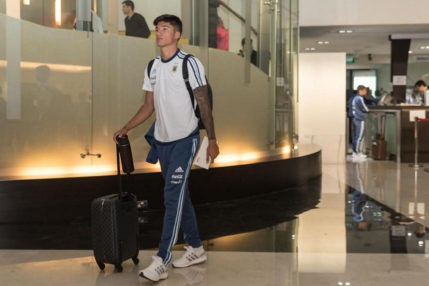 22 year-old Argentine midfielder Joaquin Correa pictured at the JetQuay CIP Terminal on June 10, 2017.