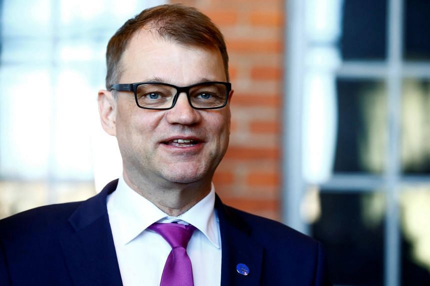Finland's Prime Minister Juha Sipila speaks to media after government's open session for members of public took place during the celebration of the 100th anniversary of Finnish independence in Porvoo, Finland on May 4, 2017.