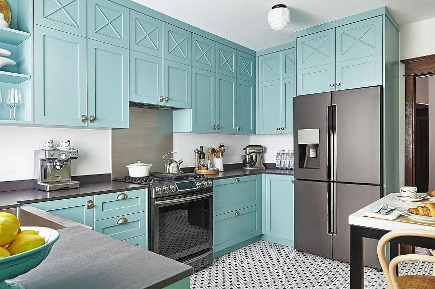This kitchen, designed with black stainless- steel appliances, made a splash in the online design community Houzz.