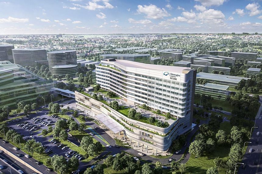 An artist's impression of Gleneagles Shanghai Hospital. IHH Healthcare broke ground for the hospital as part of its push into Greater China.