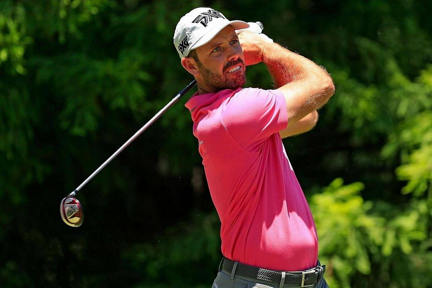 Charl Schwartzel of South Africa plays his shot, on June 9, 2017.