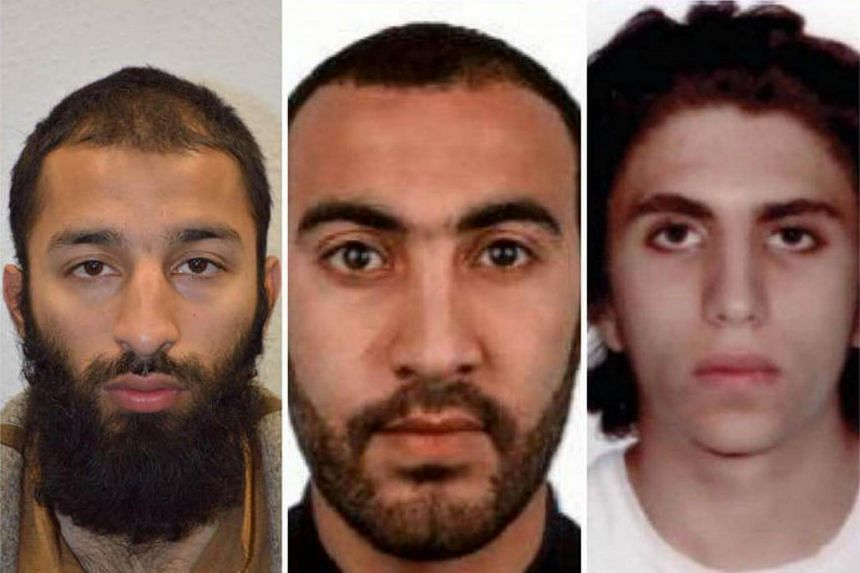 (From left) Pakistani-born Briton Khuram Butt, Italian Rachid Redouane and Youssef Zaghba had initially tried to hire a 7.5 tonne truck.