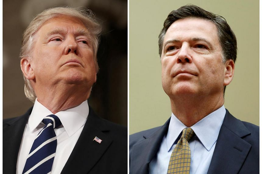 US President Donald Trump (left) and former FBI Director James Comey.