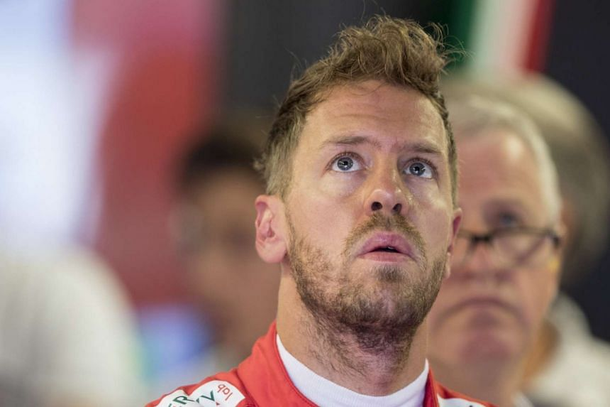 Vettel during the third practice session of the Canadian grand prix.