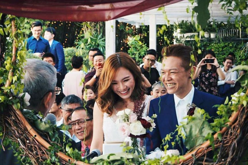 Mr Koh Ming Hao married Ms Daphnie Chong last year. Ms Chong stood by him through his four-year battle with cancer.