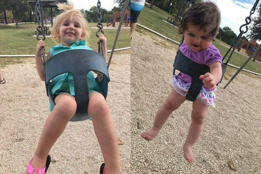Addyson Overgard-Eddy (left), two,  and Brynn Hawkins, one, died after being left for more than 15 hours in a car by their mother.
