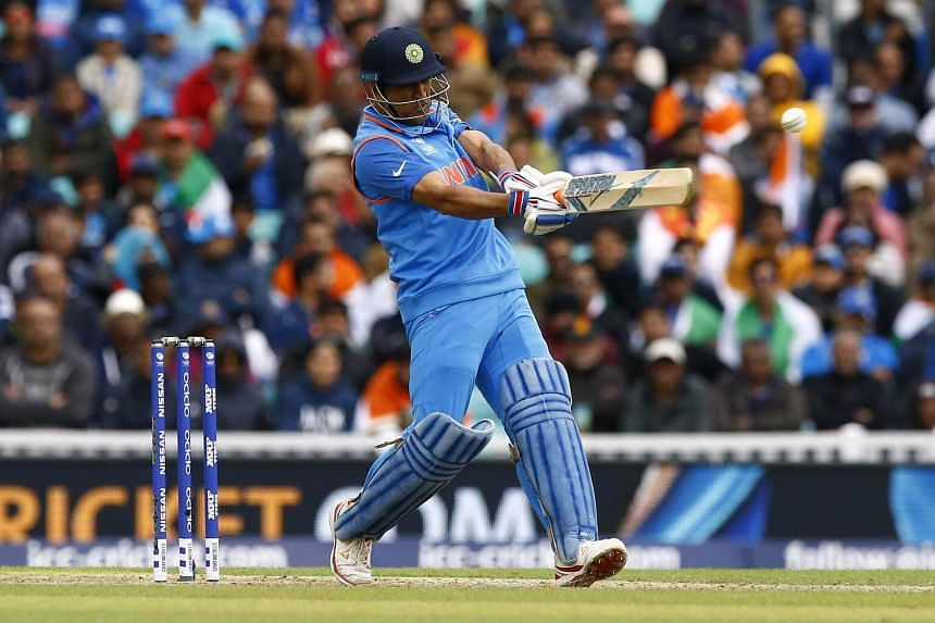 India's MS Dhoni in action.