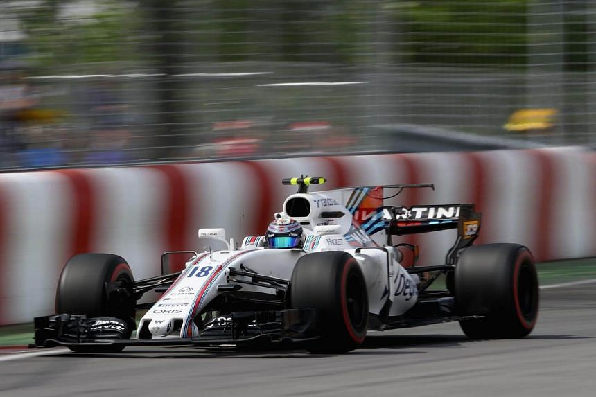 Lance Stroll of Canada driving the (18) Williams Martini Racing Williams FW40 Mercedes on track during practice for the Canadian Formula One Grand Prix at Circuit Gilles Villeneuve  in Montreal, Canada, on June 9, 2017.