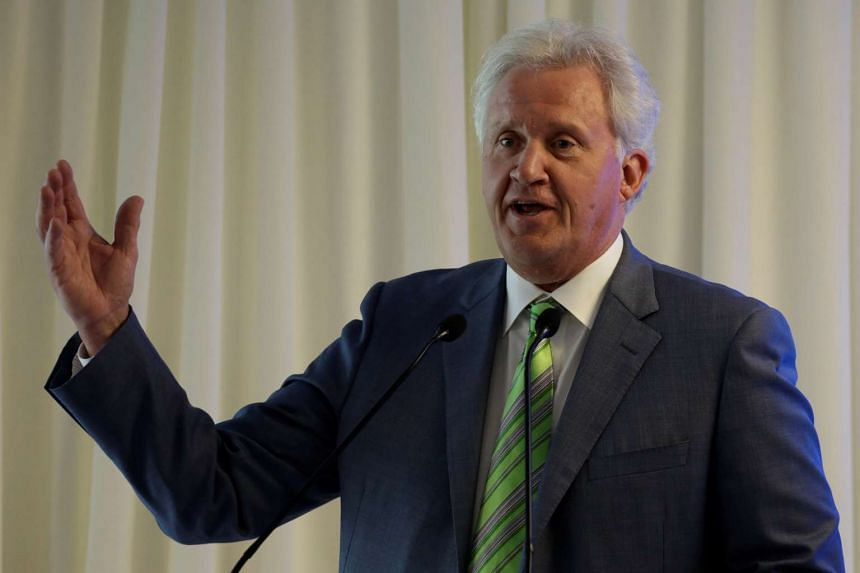 General Electric Co. Chief Executive Jeff Immelt delivers a speech during the opening of a new tower of the Global Operations Center in San Pedro Garza Garcia, neighbouring Monterrey, Mexico May 12, 2017.